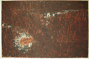Eva Renee Nele (1932) Estampe Originale Signée Art Abstrait Berlin Zurich Suisse