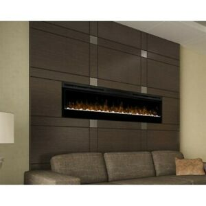 Sensational Details About Dimplex Prism 74 Wall Mount Linear Electric Fireplace Insert In Black Interior Design Ideas Clesiryabchikinfo