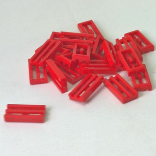 Modified 1 x 2 Grille with Bottom Groove Lip Red 20 NEW LEGO Tile