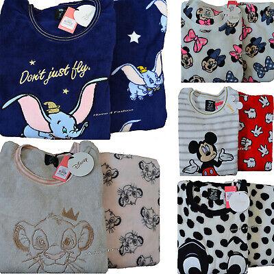 Ladies DISNEY STITCH Fleece Pyjamas Women/'s Girls Winter PJs Primark 6-20