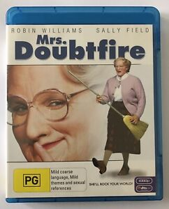 Mrs-Doubtfire-Blu-Ray-Like-New-Robin-Williams-Rated-PG-Movie-Region-B
