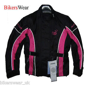 Buffalo-Opal-Ladies-Pink-Textile-Waterproof-Motorcycle-Motorbike-CheapJacket-55