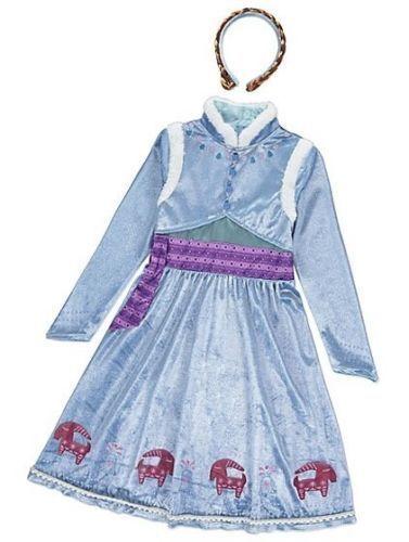 Disney Olaf's Frozen Adventure Anna OR Elsa Costume 3-4 5-6 7-8 9-10