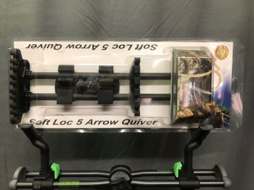 Alpine Archery Soft Loc 5 ARROW réglable Carquois avantage Max-4 Camo.