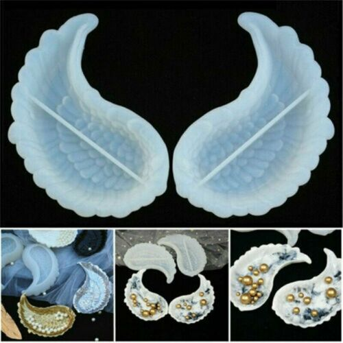 Angel/'s Wings Mould Siliconed Plate Tray Container 1 Pair Resin Mold Epoxy DIY