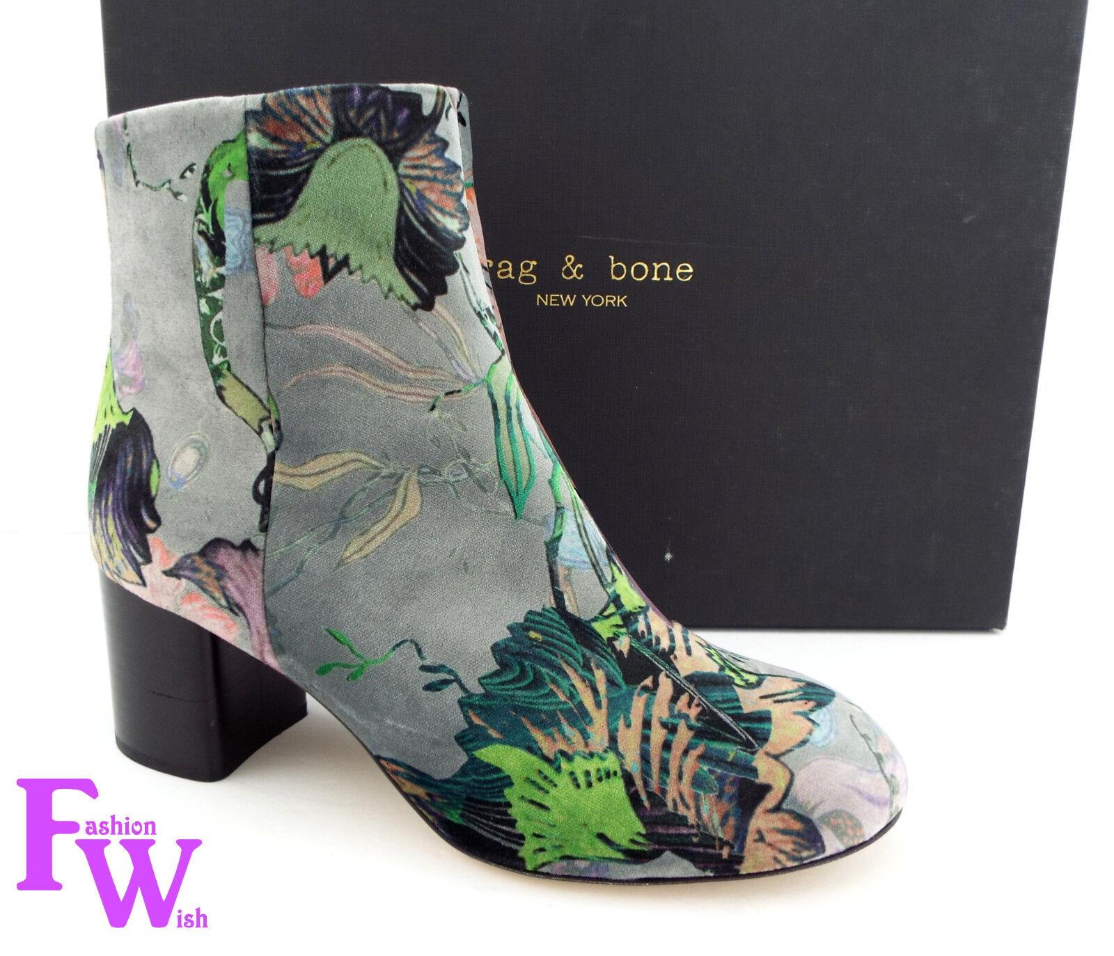 New RAG & BONE Size 7.5 DREA Floral Velvet Velvet Velvet Ankle Boots shoes 7 1 2 NIB 9b24bf