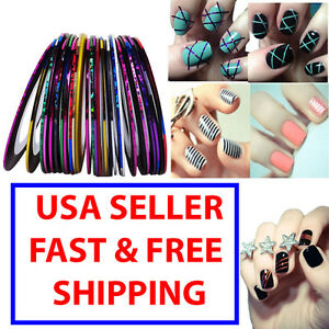 Image Is Loading Mixed Colors Rolls Striping Tape Line Nail Art