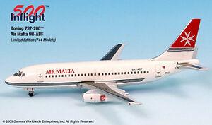 Air-Malta-Boeing-737-200-1-500-Inflight-500-IF5732003-B737-B732-9H-ABF-Diecast