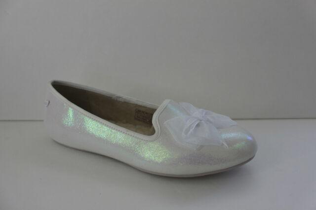 a118d5e2dcb5 Girls Ugg Australia Ashley Size 5 M White Glitter Flat Slippers Slip On  Shoe NIB