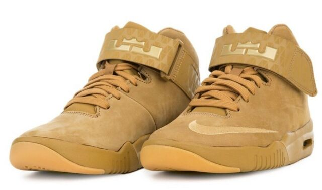 8c41275ec68  95 Nike Air Akronite AS LeBron James Wheat Suede Basketball Shoes  836387-700