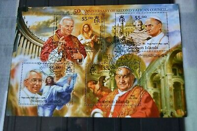 1 Philatelic Sheet Stamps - Solomon Islands, Vatican, Popes _______________