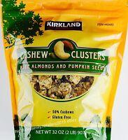 Kirkland Signature Cashew Clusters Almonds Pumpkin Seeds Sweet Salty, 32 Or 64 O