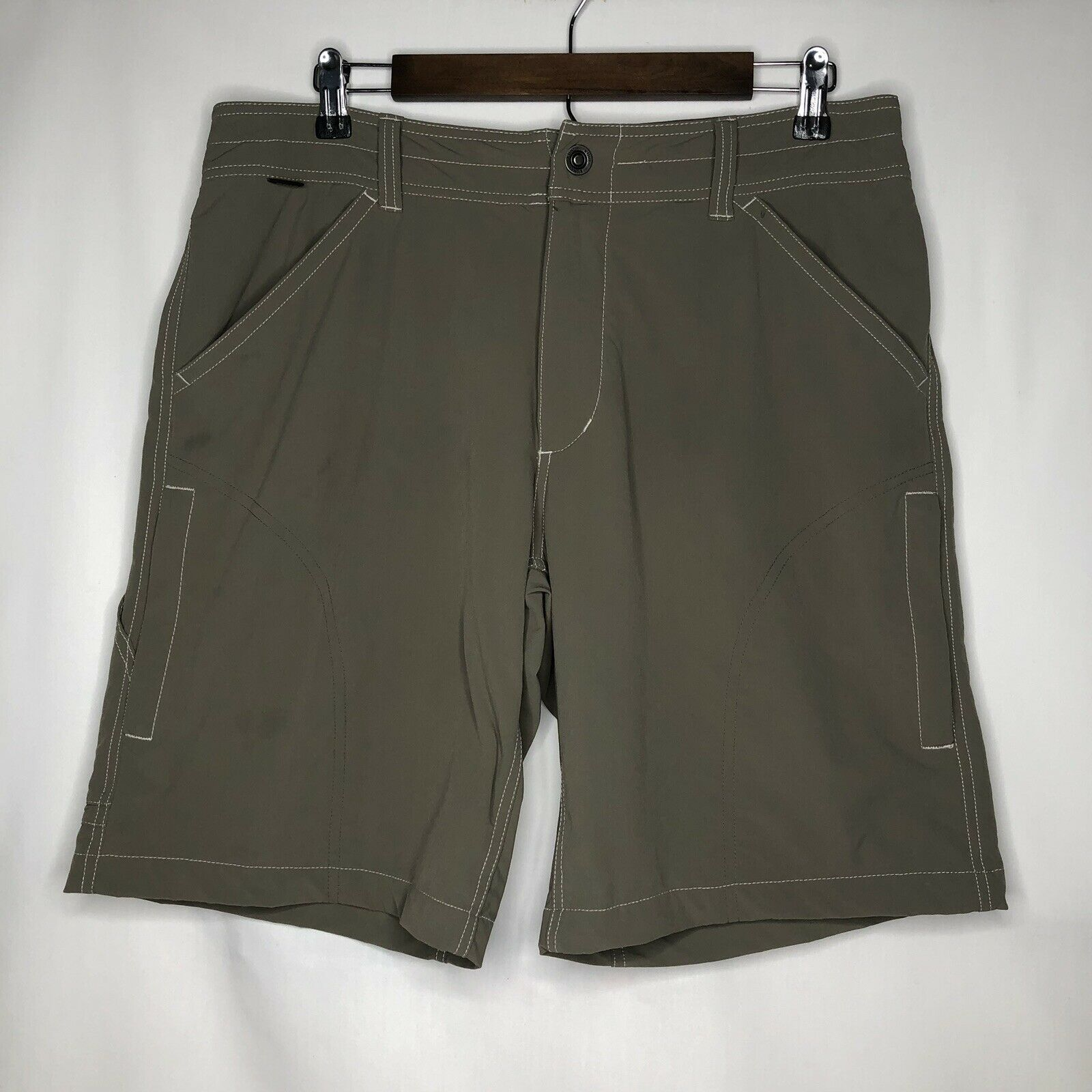 KUHL Mens Sz 34 Performance Shorts Olive  Khaki Hiking Trail Outerwear Cargo  store sale outlet