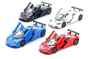 Kinsmart-1-34-Scale-1995-McLaren-F1-GTR-Red-White-Black-Blue-Diecast-car-Model
