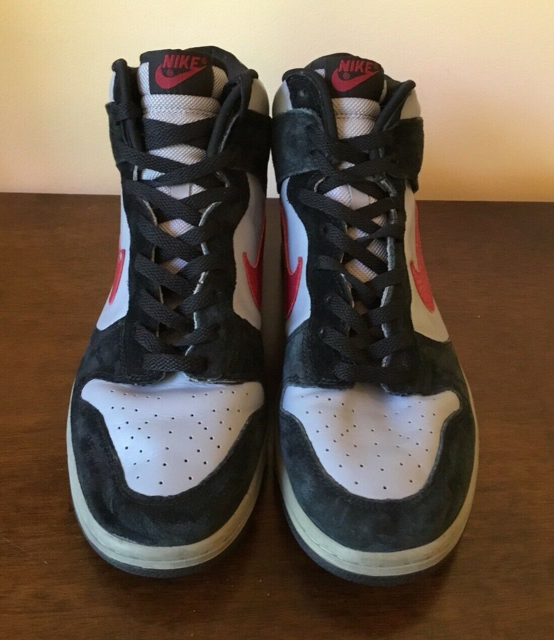 939b4c56373ce7 Nike Dunk High Gray Black       Red Athletic Sneakers 040608 304717 061 -  Men s 12 50db8c