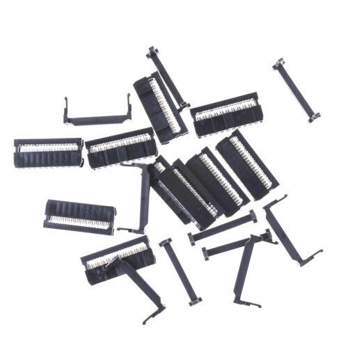 10PCS IDC 20 PIN Female Header  FC-20 2.54 mm pitch Socket Connector HI