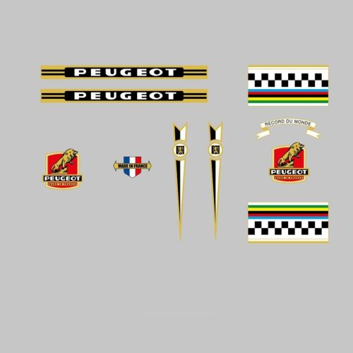 Peugeot Bicycle Frame Stickers Decals n.0370