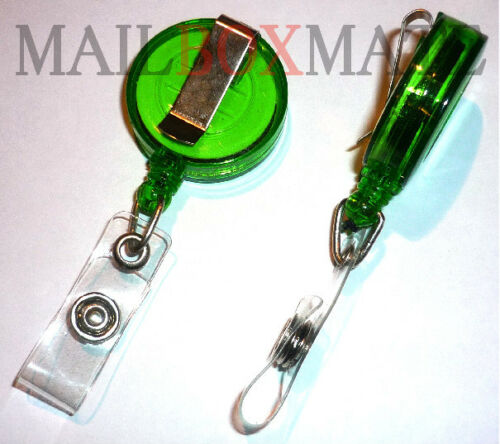 Free First Class Post 10 Retractable Recoil Key Rings PVC Strap ID Card Holder