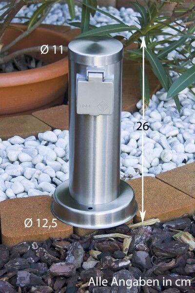 Prise extérieure en acier Prise de courant pour le jardin Color plataée 29729