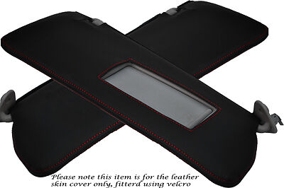 RED STITCHING FITS BMW 3 SERIES E36 92-99 2X SUN VISORS LEATHER COVERS ONLY