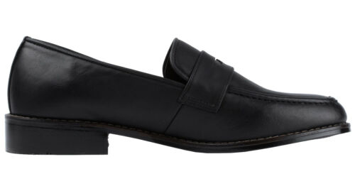 Ons Moc Toe Dress Shoes Black Brown Mens Classic Penny Loafers Slip