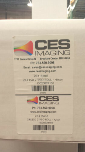 "8 Rolls 24/""x150/' 20lb Bond Canon IPF Plotter Paper"