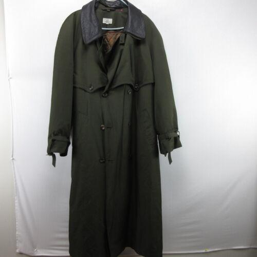 Olive Green Harry Rosen Trench Coat Jacket 44 Wint