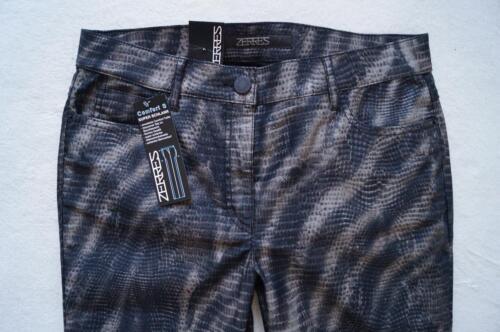 ZERRES  CARLA   gemusterte Hose  Jeans Gr 36,38,40,42,44,46 Short Regular NEU