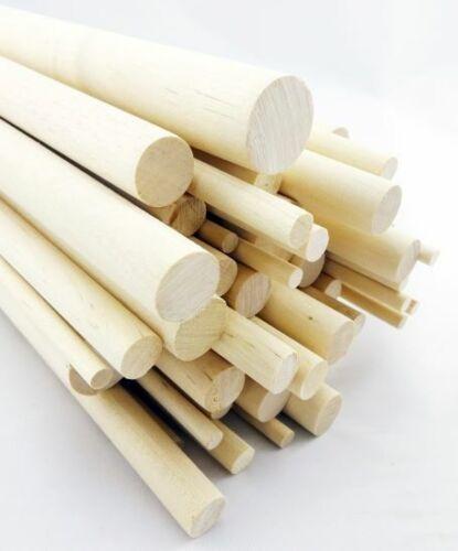 10 pcs 5//8 Dia Birch Hardwood Dowel Rods 12 Inches 15.87 x 300mm Long Imper...