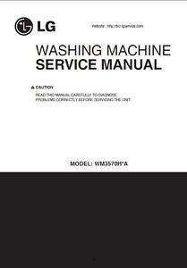 lg wm3570h wm3570hwa wm3570hva washer service manual parts list rh ebay com lg automatic washing machine service manual lg automatic washing machine service manual