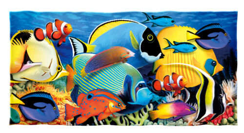 Tropical Fish Cotton Beach Towel