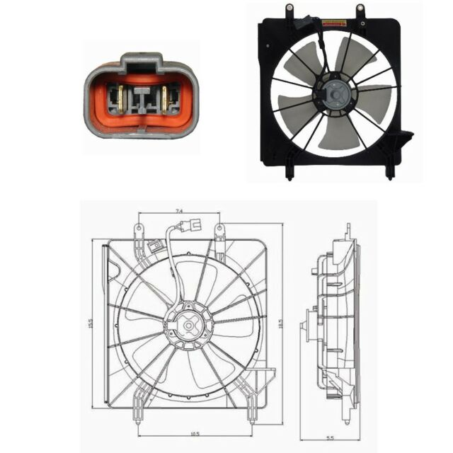 Radiator Fan Assembly Engine Cooling Fits: 2004
