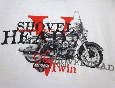 SHOVELHEAD GARAGE T-SHIRT ~ Biker Pinup Tee ~ Wings /& Wrenches Engine