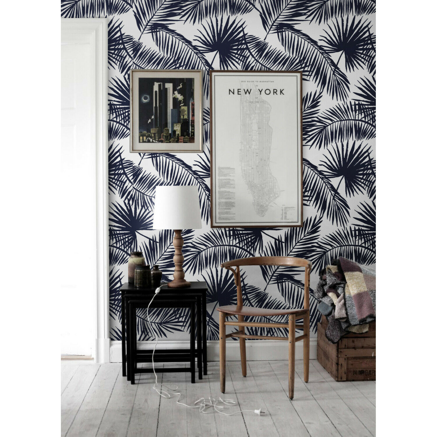 Removable Wallpaper Tropical palm leaf Exotic leaves Palm leaf print wall decal