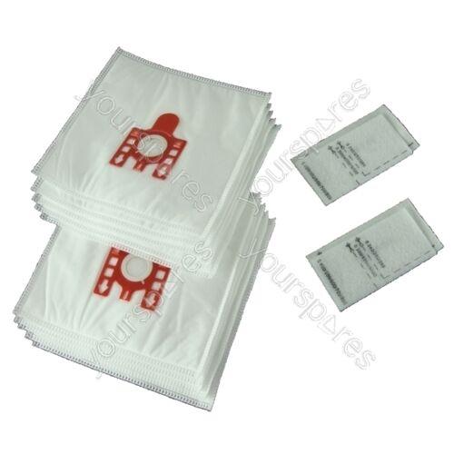 10 Sacchetti per aspirapolvere Miele S500 a s578 Fjm Aspirapolvere Hoover Polvere Sacchetti /& Filtri