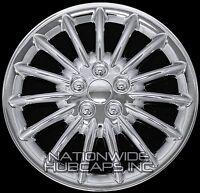 Set Of 4 Chrome 17 Hub Caps Wheel Covers 15 Spoke Star Full Tire Rim 5 Lug Hubs