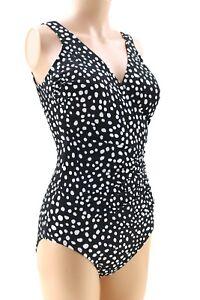 KIRKLAND Miraclesuit SWIMMING COSTUME Slimming Swimsuit Shape Firm BLACK WHITE