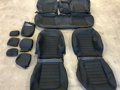 Ford F150 Replacement Seat Covers >> FACTORY OEM ORIGINAL TAKE OFF CLOTH REPLACEMENT SEAT COVERS BLACK FORD FUSION SE | eBay