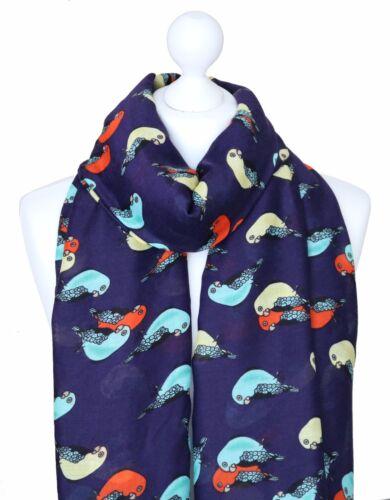 Perroquet perruche écharpe large bleu marine pour femme imprimé oiseaux Femmes Tropical Animal Cadeaux