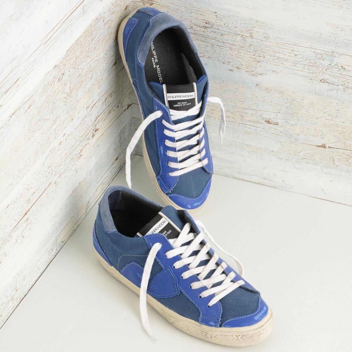 Sneaker Model uomo in Canvas Philippe Model Sneaker Bercy BELU CW06, taglia 42 21c395