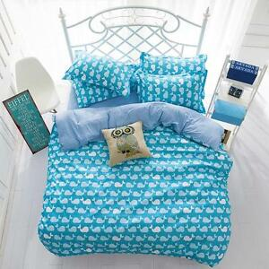 Blue-Whale-Single-FitOZ-Queen-King-Size-Bed-Set-Pillowcases-Quilt-Duvet-Cover