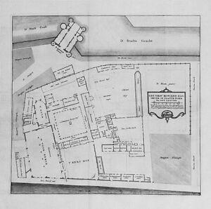 Antique-map-Het-grav-moniken-klooster-in-platte-form-na-het-leeven