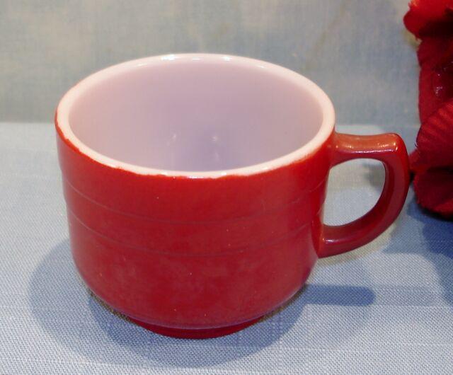 Hazel Atlas Moderntone Platonite Little Hostess Burgundy Child's Cup