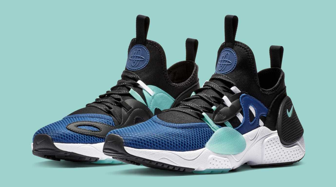 NIKE AIR HUARACHE E.D.G.E TXT HA SZ 9.5 INDIGO FORCE GREEN BQ5205-400