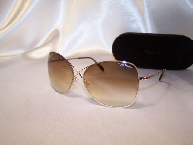 f25788b5cb Authentic Tom Ford Colette TF250 28F Rose Gold Butterfly Sunglasses 63 w  case