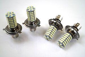 SUZUKI-LIANA-2001-4x-H4-120SMD-LED-12v-FARO-DELANTERO-alta-INFERIOR-Luz