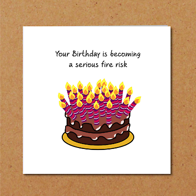 Fabulous Funny Birthday Card With Cake Candles Dad Mum Friend Humorous Funny Birthday Cards Online Barepcheapnameinfo