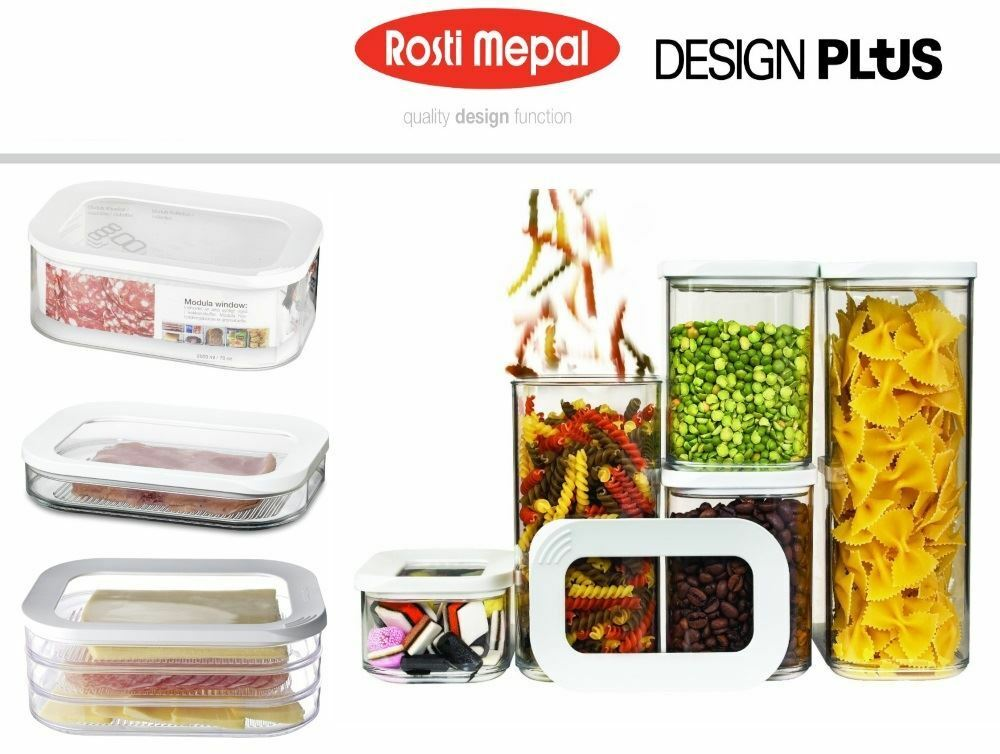 Rosti Mepal Modula Airtight Storage Box Boxes Container, 5 Piece or Single