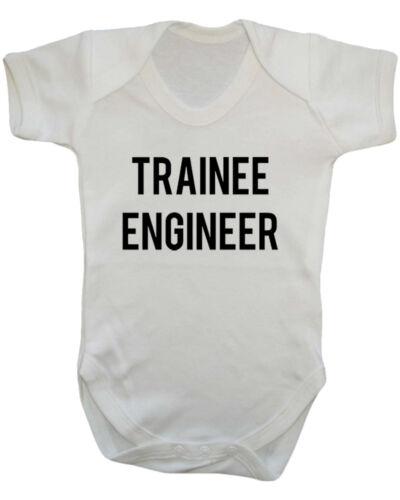 Baby Shower New Born Baby Funny Baby Vest. Trainee Engineer Baby Vest