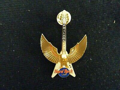 Hard Rock Cafe pin Philadelphia Open wings Eagle flying V Guitar